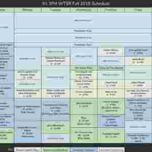 Fall 2018 Schedule